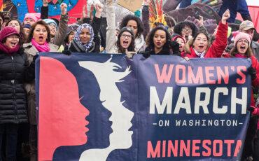 WomensMarchMinnesota.w.banner.by-Juliann-Itter—Jumay-Designs